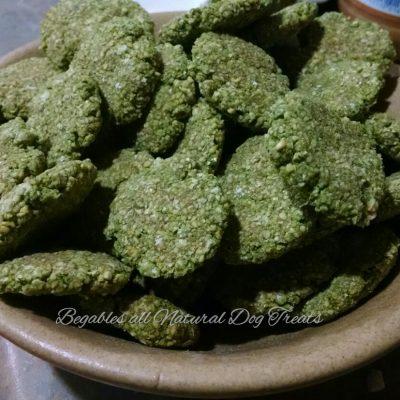 kale apple mint dog treats