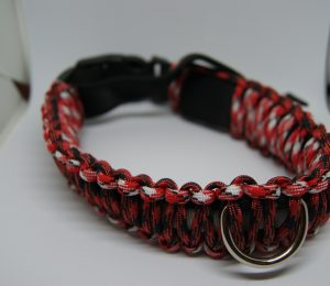 LED Paracord dog collars size X-Large
