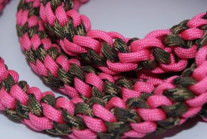 Pink and Camo Stretch Paracord Leash