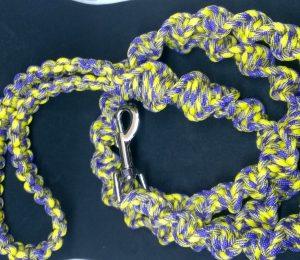 Yellow and purple helix braid heavy duty paracord