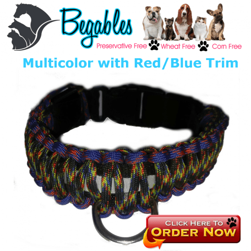 Multicolor with red/blue trim LED collar