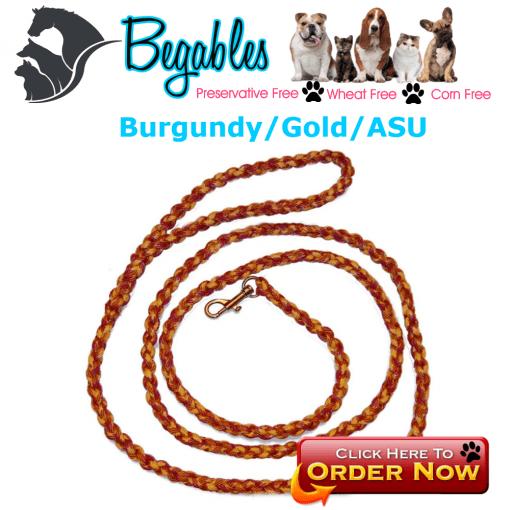 Burgundy/Gold/ASU leash