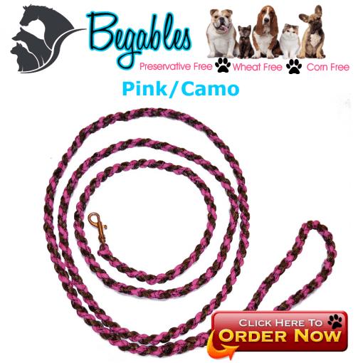Pink/Camo leash