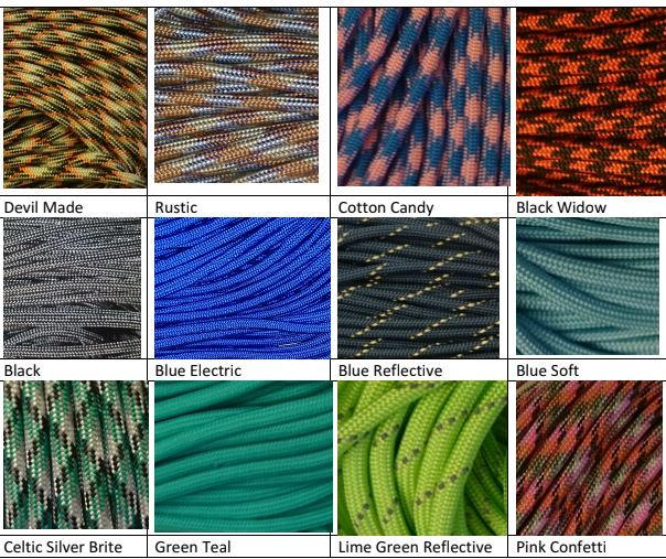 Color Grid Paracord