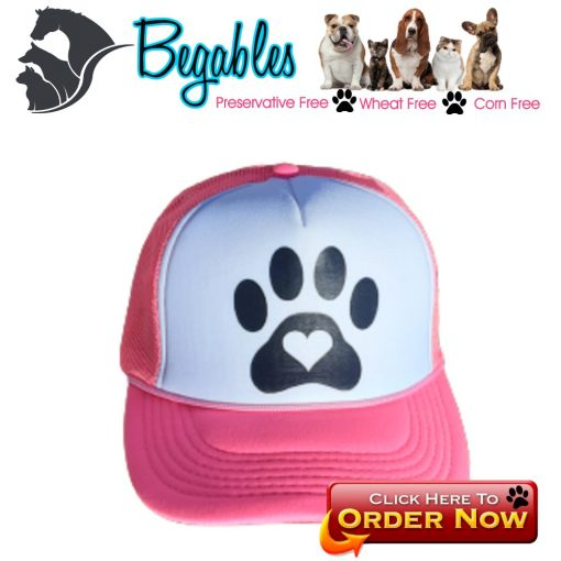 Dog paw with heart trucker hat