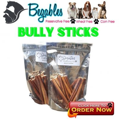 Bully sticks dog dental chews