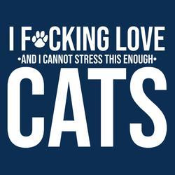 I F*Cking Love cats shirt