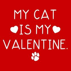 My cat is my Valentine Shirt