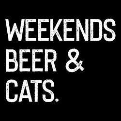 Weekends Beer & cats shirt